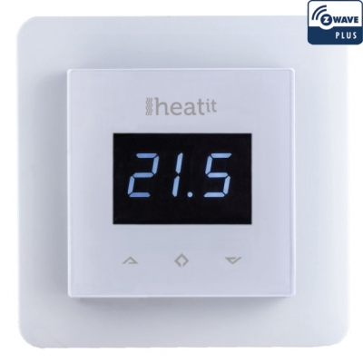 Термостат теплого пола с дисплеем (белый)